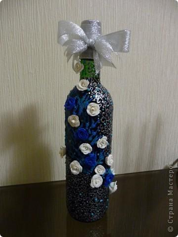 2 вино в синем цвете...синяя пластика лежала пол года,мне казалось,что оч грубый цвет...Но вот вчера было настроение, пришла и её участь))) фото 2
