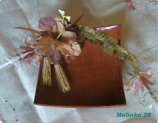 Были простые необработанные глиняные тарелки. Покрыли их  лаком украсили цветами и получились не плохие тарелочки для декора! фото 1