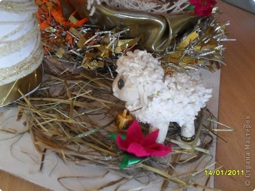 Здравствуйте, уважаемые мастерицы. Сделали с сыном вот такую поделку к Рождественскому фестивалю. Все идеи почерпнули из Страны Мастеров. Спасибо Вам, дорогие рукодельницы!  фото 5