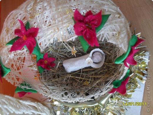 Здравствуйте, уважаемые мастерицы. Сделали с сыном вот такую поделку к Рождественскому фестивалю. Все идеи почерпнули из Страны Мастеров. Спасибо Вам, дорогие рукодельницы!  фото 3