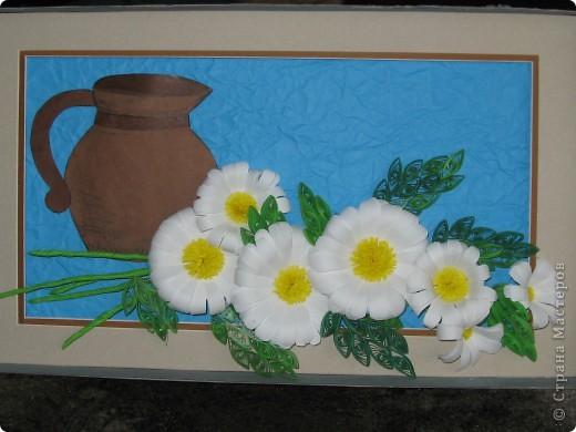 Идея из журнала по вышивке, ромашки- по МК prosto_Sveto4ka  http://stranamasterov.ru/node/89449  , за что ей большое спасибо. фото 1