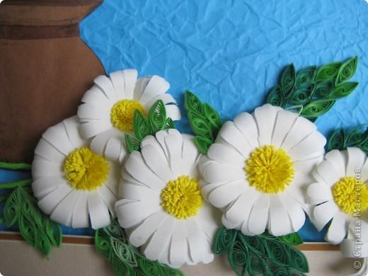 Идея из журнала по вышивке, ромашки- по МК prosto_Sveto4ka  http://stranamasterov.ru/node/89449  , за что ей большое спасибо. фото 3