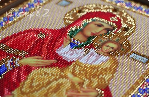 Икона Почаевская Богородица Набор фирмы Кроше (Радуга Бисера) Вышивала для очень близкой подруги и теперь уже кумы...