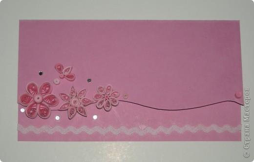 СКРАПБУКИНГ....открытка №12 - Розово-цветочная фото 2