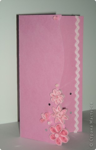 СКРАПБУКИНГ....открытка №12 - Розово-цветочная фото 1