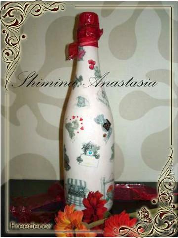 Декорирование бутылки ко Дню святого Валентина
