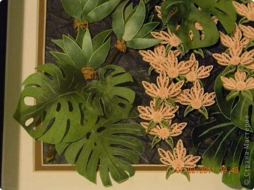 Представляю всем свой вариант тропического леса. За идею огромное спасибо  Ольге К. Обойти вниманием такую потрясающую работу и не попробовать ее сделать, было выше моих сил. фото 2