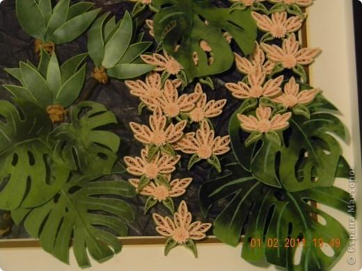 Представляю всем свой вариант тропического леса. За идею огромное спасибо  Ольге К. Обойти вниманием такую потрясающую работу и не попробовать ее сделать, было выше моих сил. фото 4