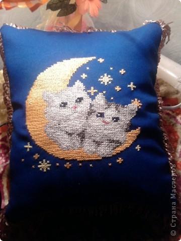 Такую подушечку подарила будущей свекрови на юбилей - типа вот какие мы белые и пушистые :) фото 2