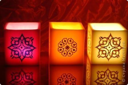 """Уважаемые посетители """"Страны мастеров""""! Хочется поделится с вами красотой которую производят марокканские ремесленники. Фотосфоры- это подсвечники в которые встраиваются металлические украшения или подсвечники, которые расписывают  хной. Смотрится просто здорово! Надеюсь они и вам понравились. фото 1"""
