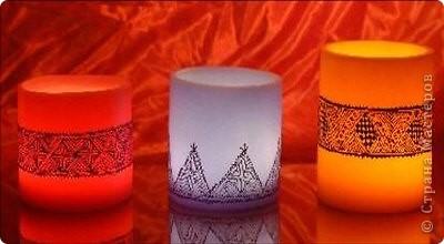 """Уважаемые посетители """"Страны мастеров""""! Хочется поделится с вами красотой которую производят марокканские ремесленники. Фотосфоры- это подсвечники в которые встраиваются металлические украшения или подсвечники, которые расписывают  хной. Смотрится просто здорово! Надеюсь они и вам понравились. фото 2"""