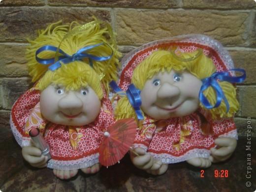 Вот такие у меня получились кукляшки-двойняшки. фото 1