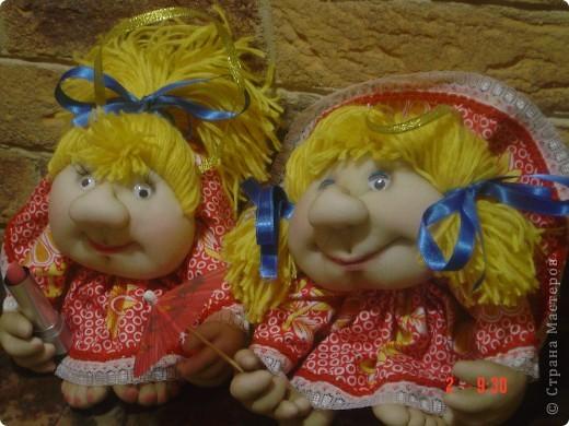 Вот такие у меня получились кукляшки-двойняшки. фото 2