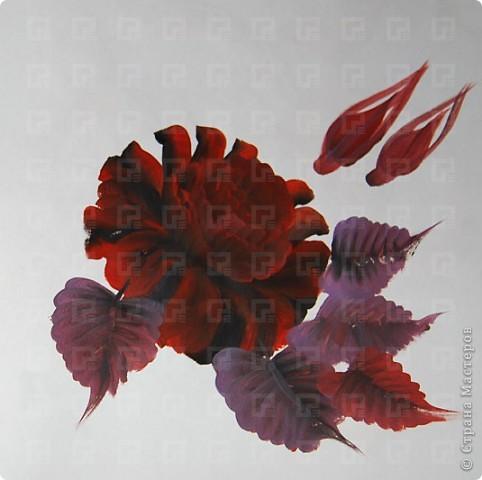 Рисунок не очень четкий, ибо краски взяла не для керамики, а обычные художественные фото 4