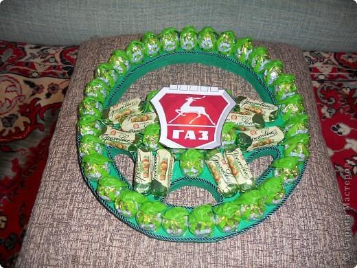 Руль для мужчины -водителя на 50-тилетие из 50 конфет) фото 4