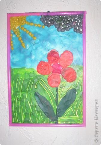 Пластилиновый цветок