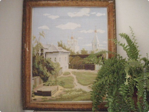 Поленов московский дворик схема вышивки