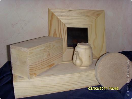 Набор для декорирования в технике декупаж: зеркало (ИКЕА), шкатулка круглая, шкатулочка для чайных пакетиков,  пенал для спиц, чайник. фото 1