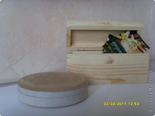 Набор для декорирования в технике декупаж: зеркало (ИКЕА), шкатулка круглая, шкатулочка для чайных пакетиков,  пенал для спиц, чайник. фото 2