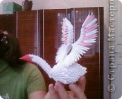Вот такого лебедя делали я и сынуля на конкурс оригами в школу.Наш лебедь занял первое место по району. фото 2
