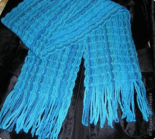 Воздушный шарф Пряжа фото