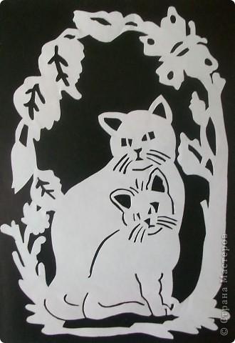 Кошка и котенок. фото 1