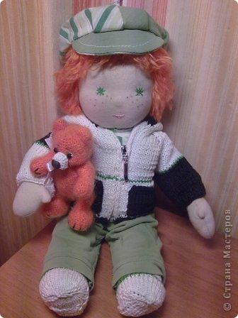 Вальдорфская кукла 38 см, хб трикотаж, набивка шерсть фото 6