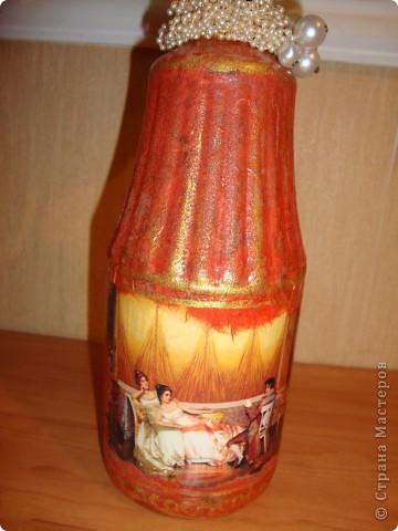 Прямой декупаж-краска с эффектом керамики,три оттенка золотой краски,кракелюр,лаки. фото 3