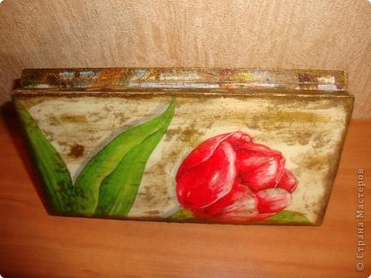 Прямой декупаж-краска с эффектом керамики,три оттенка золотой краски,кракелюр,лаки. фото 8