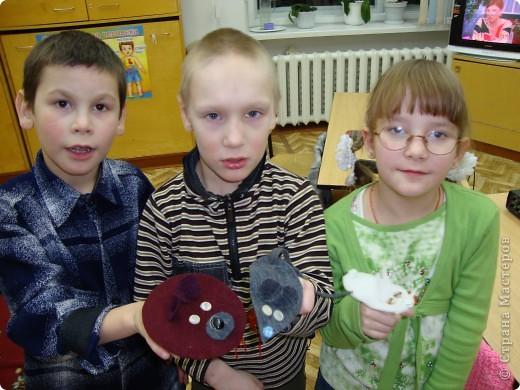 """По мотивам """"Веселой мышки"""" и зверюшек Татьяны Михайловны мои ребята сделали с малышами вот таких зверюшек для пальчиков. фото 1"""