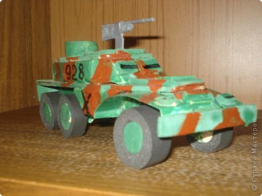 """моя машина """"БТР-152"""" . У неё боевая окраска и пулемёт фото 2"""