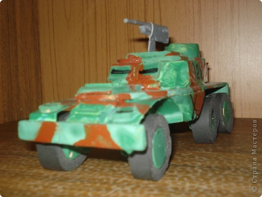 """моя машина """"БТР-152"""" . У неё боевая окраска и пулемёт фото 3"""