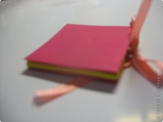 Вот такой блокнотик фото 1