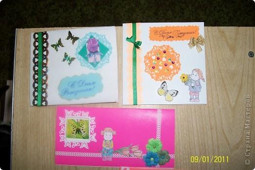 Делала открыточки для девченок к Дню рождения. фото 1