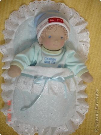 Вальдорфская кукла 38 см, хб трикотаж, набивка шерсть фото 2