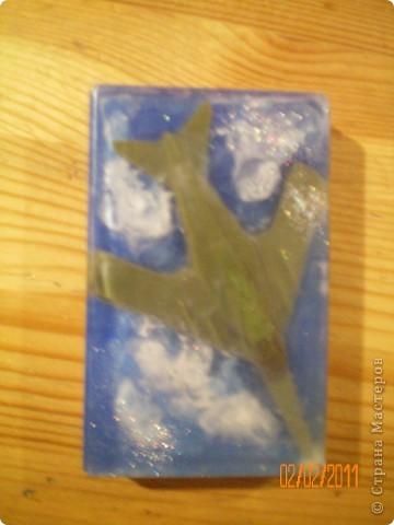 мыльный самолет в облаках- почти в формате 3D фото 3