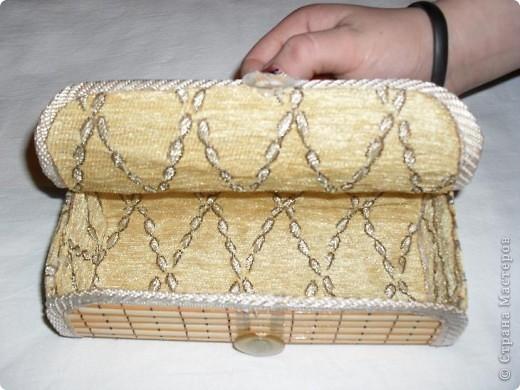 Первая шкатулка из бамбуковой салфетки фото 2