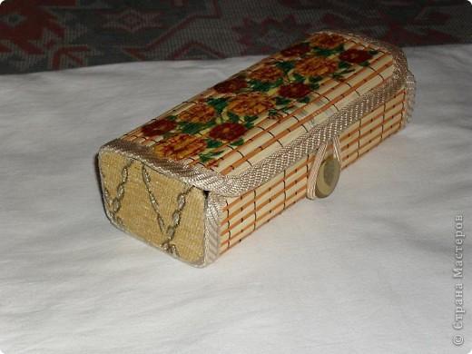 Первая шкатулка из бамбуковой салфетки фото 3