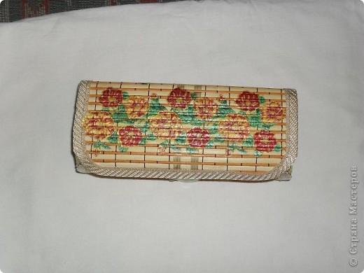 Первая шкатулка из бамбуковой салфетки фото 4