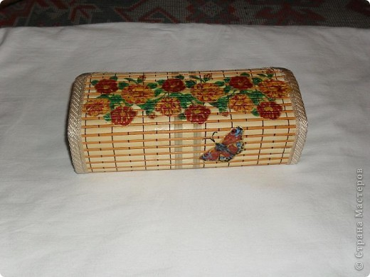 Первая шкатулка из бамбуковой салфетки фото 5