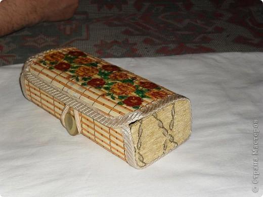 Первая шкатулка из бамбуковой салфетки фото 7