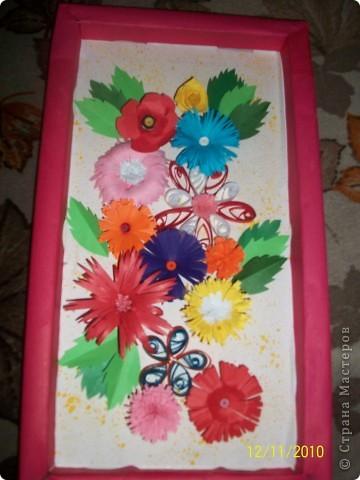 Делала просто из всех цветов которые были сделаны спонтанно! Вроде ни че получилось!