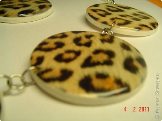 "Набор : бусы и серьги "" Леопард"" фото 2"