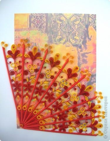 Викторианский веер в японском стиле