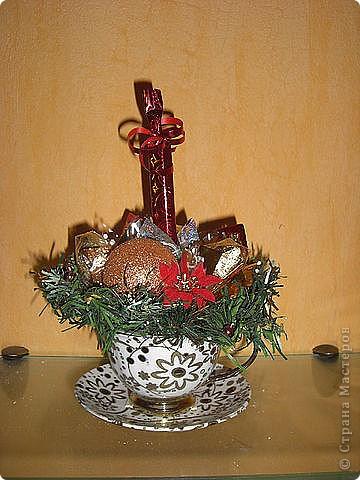 Букеты из конфет (Зима) фото 1