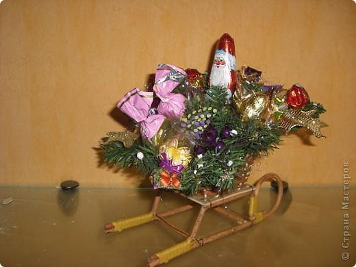 Букеты из конфет (Зима) фото 3