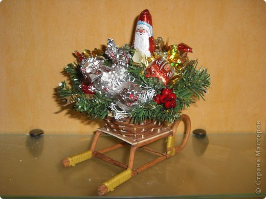 Букеты из конфет (Зима) фото 4
