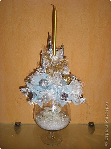 Букеты из конфет (Зима) фото 5