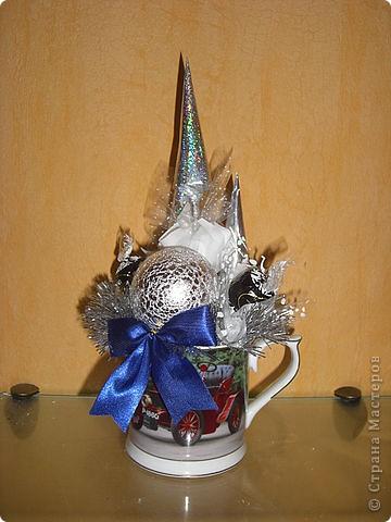 Букеты из конфет (Зима) фото 6