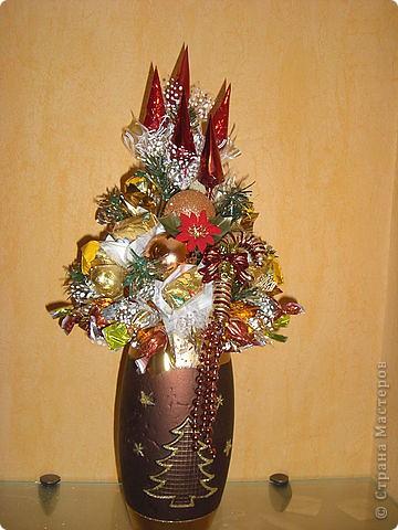 Букеты из конфет (Зима) фото 7